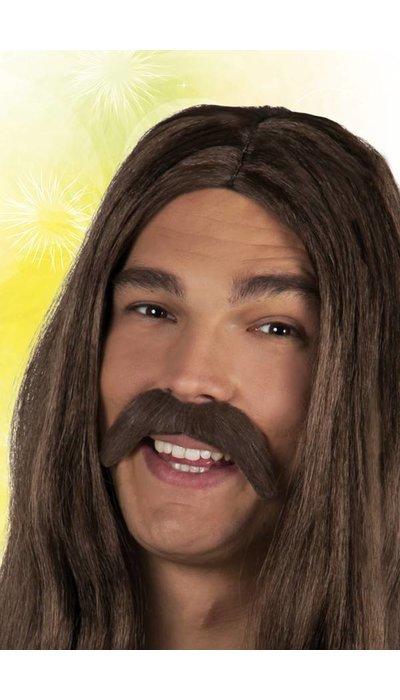 partyxplosion Hippie snor bruin