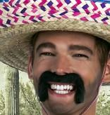 partyxplosion Mexicaans snor zwart
