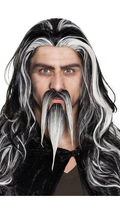 Tovenaars baard+snor