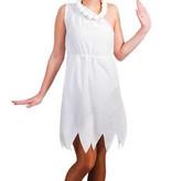 Witbaard Wilma Flinstone kostuum