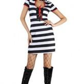 Witbaard Gevangenis kostuum voor dame kopen