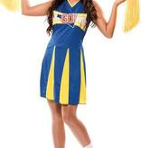 Witbaard Cheerleader kostuum kopen