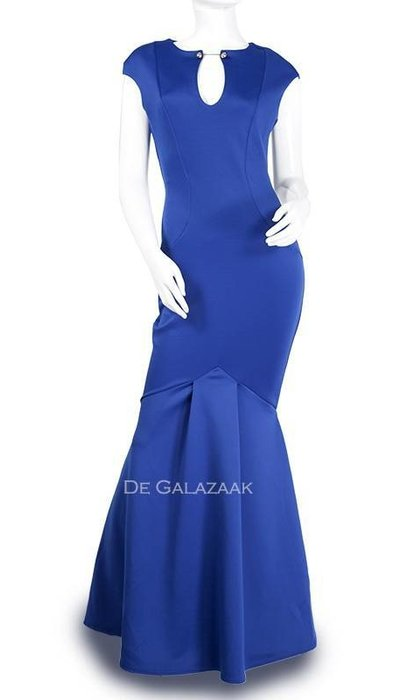 Kobalt blauwe jurk 2017020