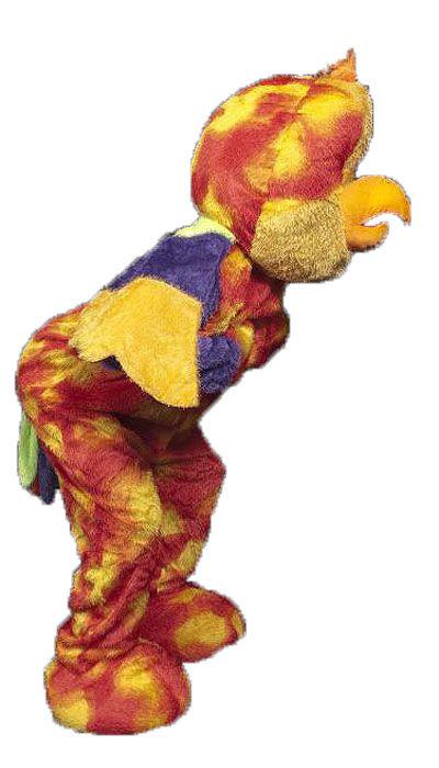 Papegaai mascotte kostuum huren - 104