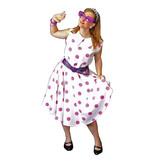 Fifties stipjes jurk huren - 314