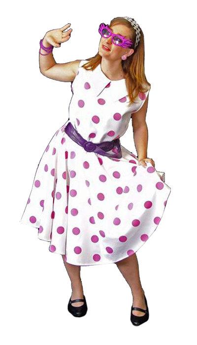 Fifties stipjes jurk huren