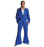 Blauw seventies kostuum