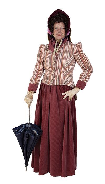 Victoriaans vrouwen kostuum huren