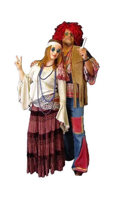 Hippie kostuums huren - 296