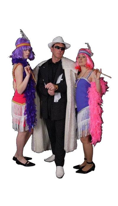 Gangster kostuum met bontjas huren - 318