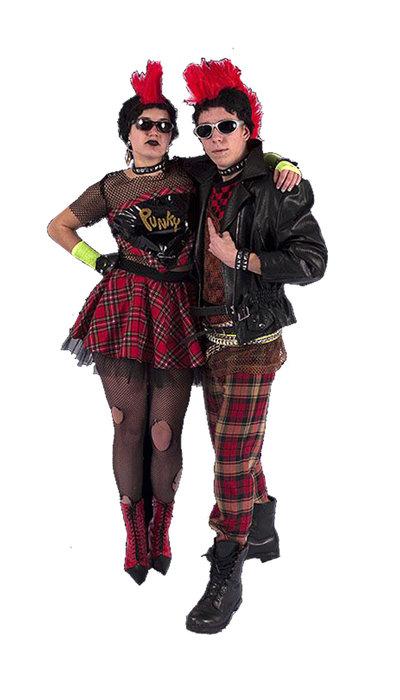 Punk kostuum