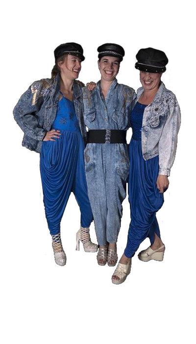 Blauwe jaren 80 kostuums huren - 309