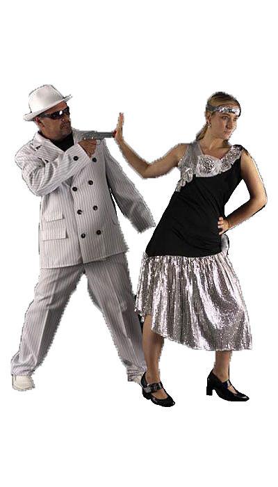 Wit gangster kostuum - 317