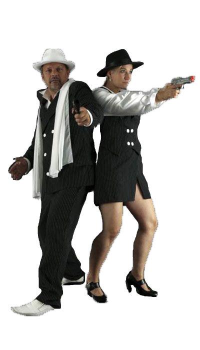 Gangster krijtstreep kostuum huren