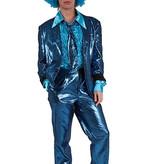 Modern blauw glitterpak huren