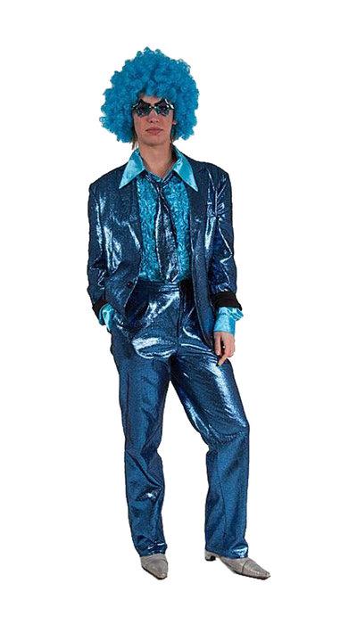 Blauw glitterpak huren
