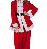 Klassiek kerstvrouw kostuum huren