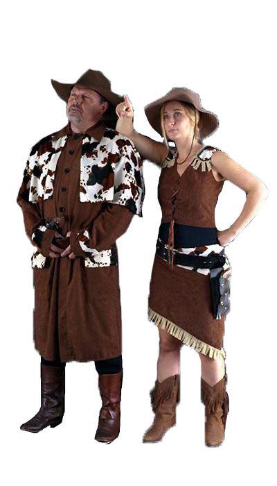 Cowboy en cowgirl kostuum huren