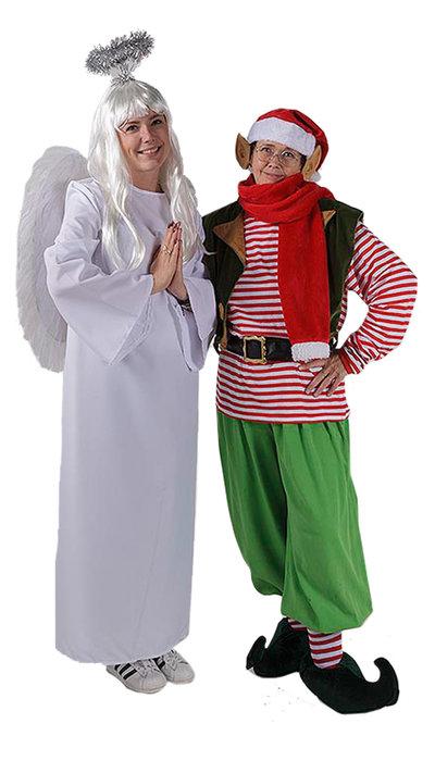 Kerstelf kostuum en engelkostuum
