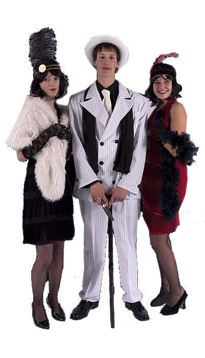 Witte Gangster outfit huren