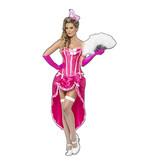 Roze burlesque jurk huren
