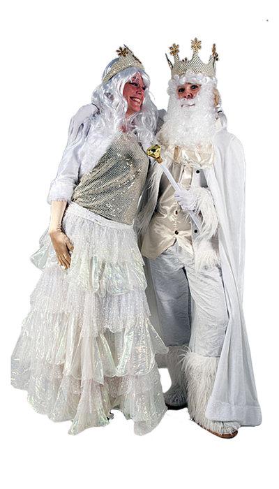 Koning en Koningin winter kostuum