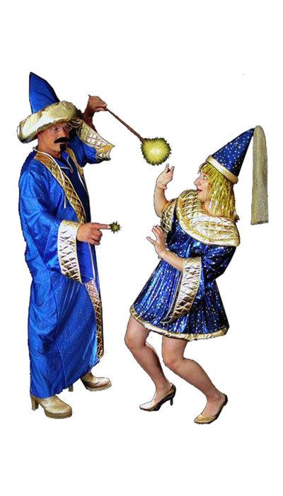 Blauwe Tovenaars kostuum - 448