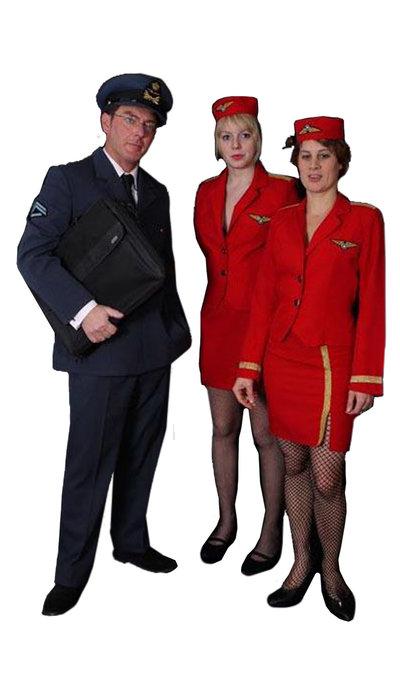 Piloot & Stewardess kostuum huren