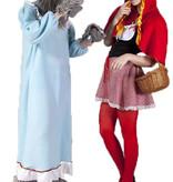 Roodkapje en de boze wolf kostuum huren