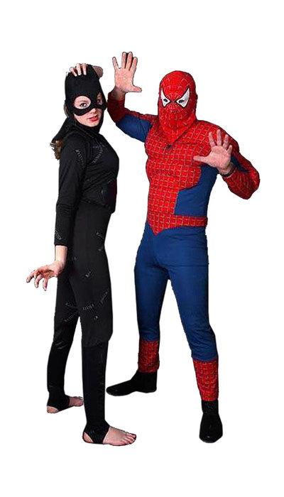 Spiderman & Catwoman kostuum huren - 114
