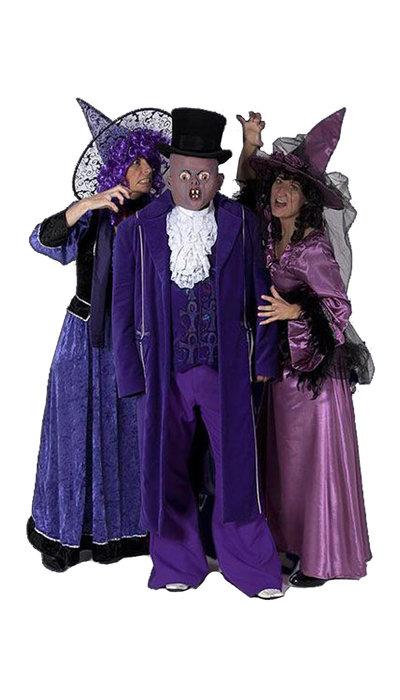 Paars monster kostuum huren - 405