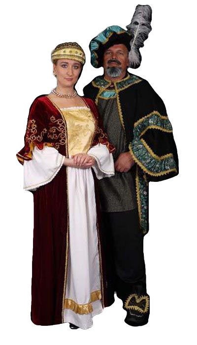 Renaissance heer & dame - 374