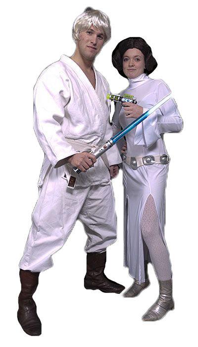 Luke skywalker en Prinses Leia kostuum huren