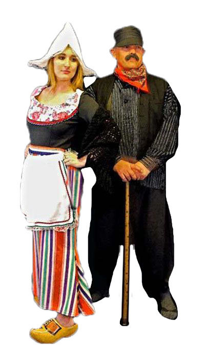 Oud Hollandse boer & boerin kostuum - 230