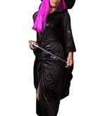 Heks jurk met hoed huren - 361