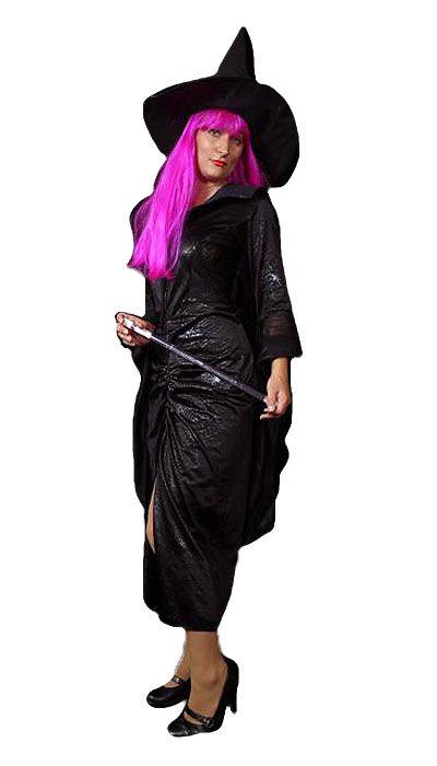 Heks outfit met roze haar