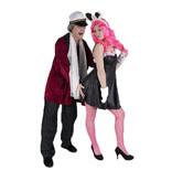 Hugh Hefner en bunny kostuum