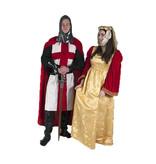 Kruisridder en hofdame kostuum huren