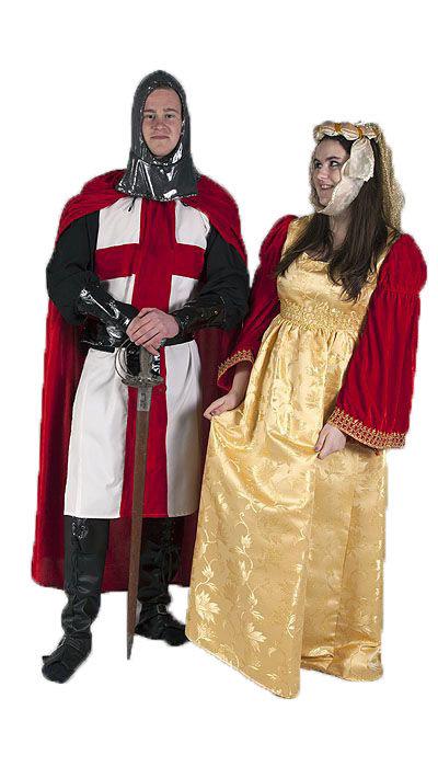 Kruisridder en hofdame kostuum