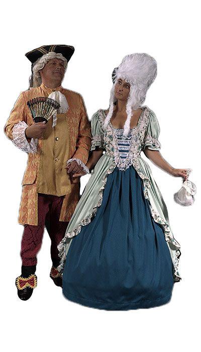 Rococo kostuums huren - 417