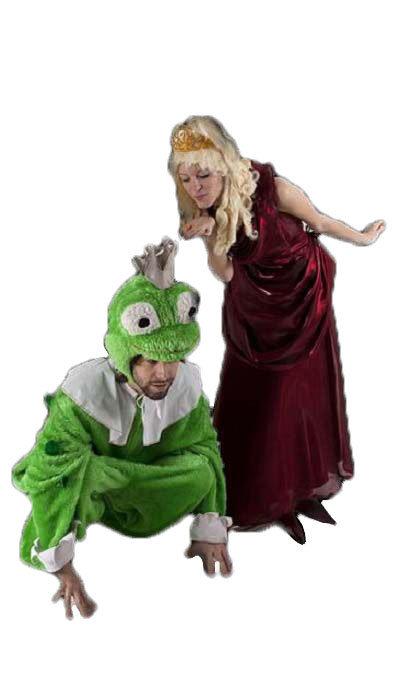 Prinses en kikker kostuum