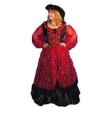 Rode historische jurk huren - 334