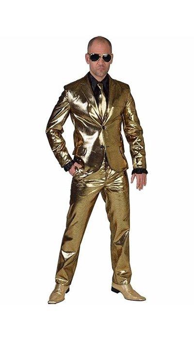 Gouden glitterpak huren