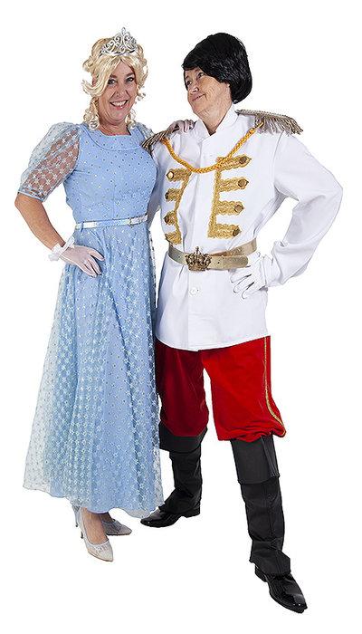 Assepoester en prins kostuum
