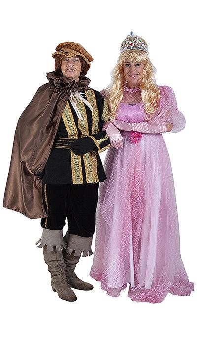 Doornroosje en prins kostuum  huren