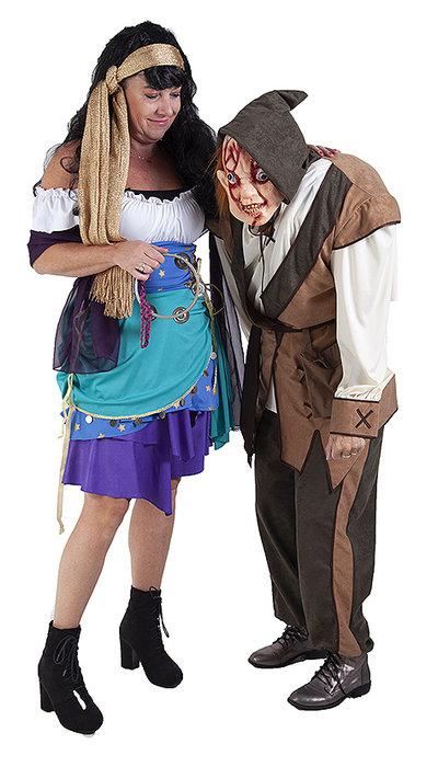 Quasimodo en Esmeralda kostuum