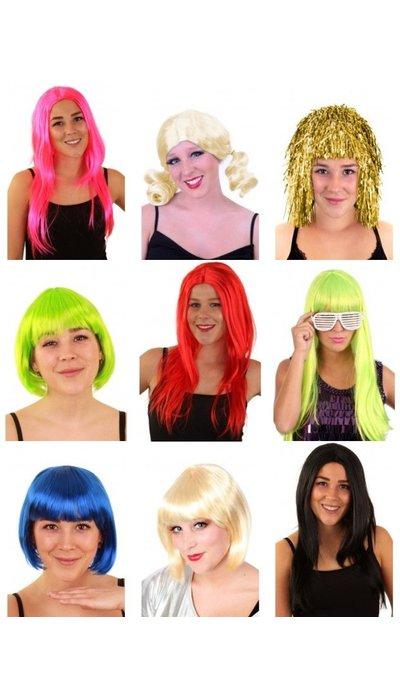 Dames pruiken carnaval kopen