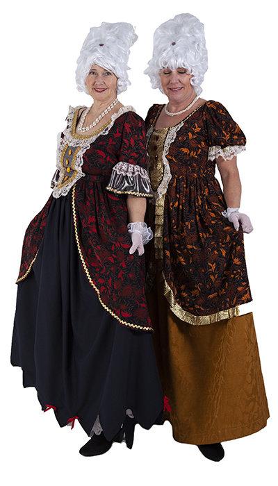 Historische jurken uit de pruikentijd