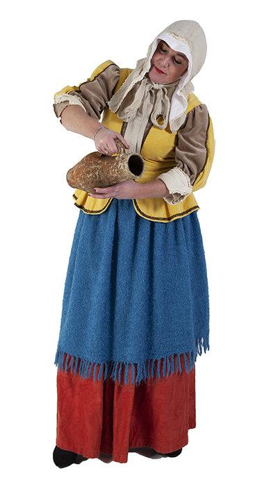 Melkmeisje van Vermeer kostuum huren