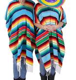 Poncho met sombrero uit Mexico huren